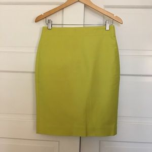 30b33e94a NWT J Crew No. 2 Pencil Skirt Lime Green Size 2